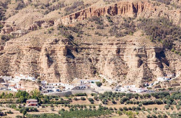 Incomum Espanha numeroso caverna casas Foto stock © backyardproductions