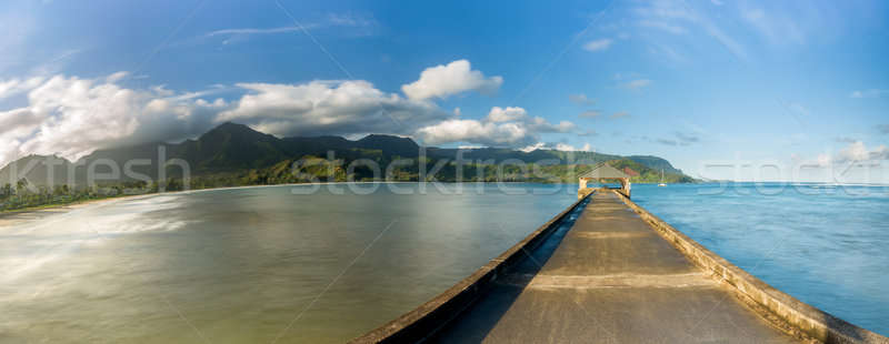 Panorama muelle Hawai amanecer Foto stock © backyardproductions
