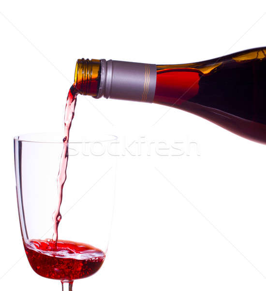 Red wine being poured into glass Stock photo © backyardproductions