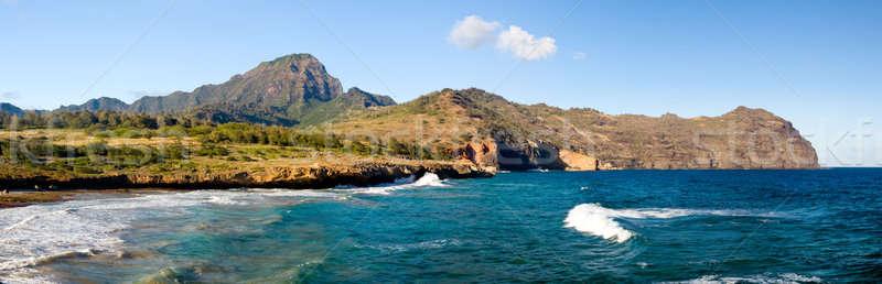 Maha'ulepu beach in Kauai Stock photo © backyardproductions