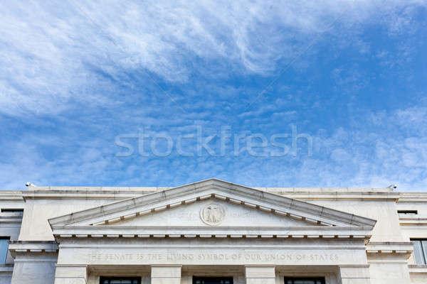 сенат офисное здание фасад Вашингтон Сток-фото © backyardproductions