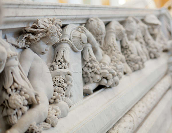 Carving in Library Congress in Washington DC Stock photo © backyardproductions