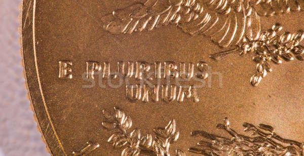 Macro of E Pluribus Unum Stock photo © backyardproductions