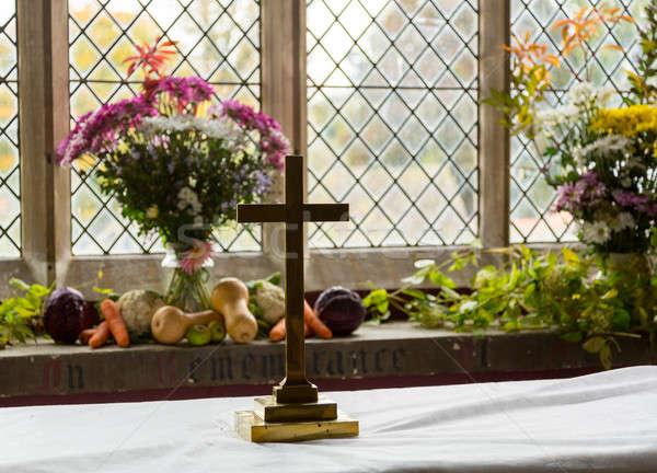 Interior of St Mary Church Swinbrook Stock photo © backyardproductions