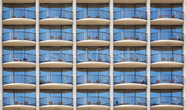 Patroon hotelkamer modern gebouw alle deur gesloten Stockfoto © backyardproductions