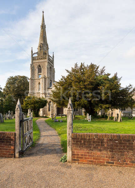 Flint church in Woolpit Suffolk Stock photo © backyardproductions
