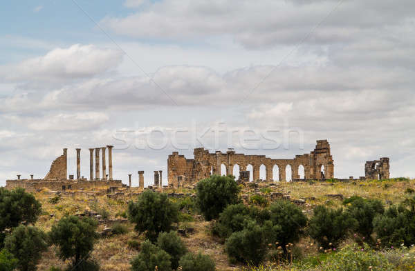 Ruines Maroc partie romaine ville fertile Photo stock © backyardproductions