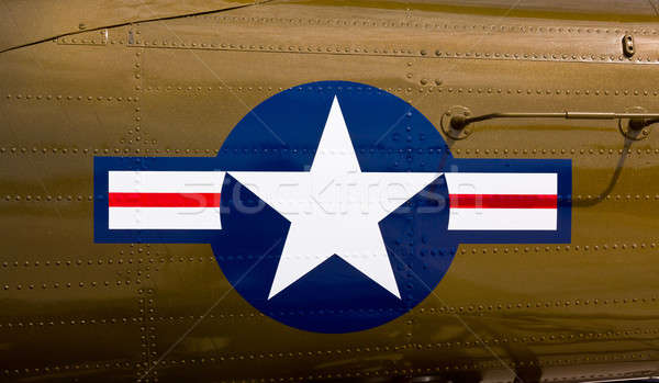 Airforce symbol on fighter Stock photo © backyardproductions