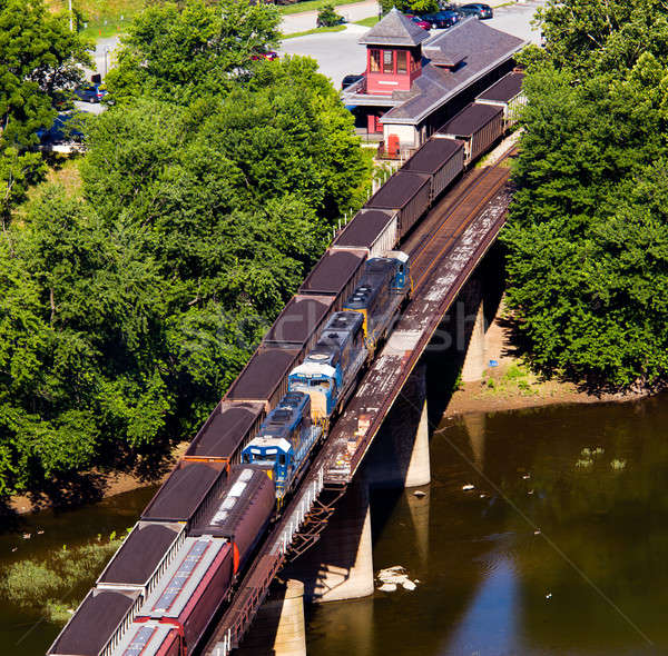 Aerial view Harpers Ferry rail station Stock photo © backyardproductions