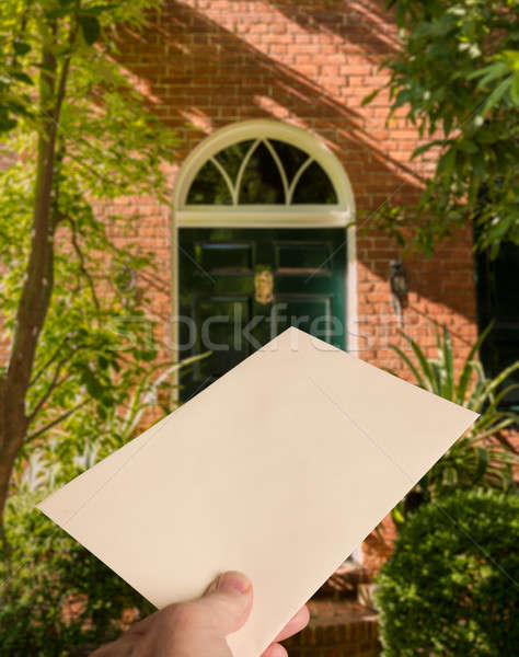 Envelope with heart being delivered Stock photo © backyardproductions