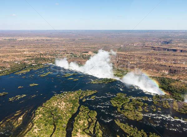 Victoria Falls on Zambezi River Stock photo © backyardproductions