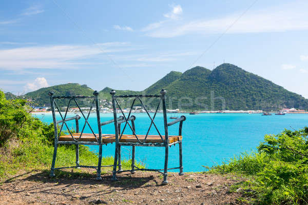 Overview of Philipsburg Sint Maarten Stock photo © backyardproductions
