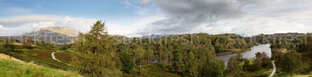 Vista Inglés panorámica paisaje montanas Foto stock © backyardproductions