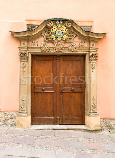 Pair of old doors in Schwabisch Hall Germany Stock photo © backyardproductions