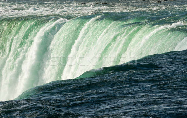 Hoefijzer waterval kant Niagara Falls natuur rivier Stockfoto © backyardproductions
