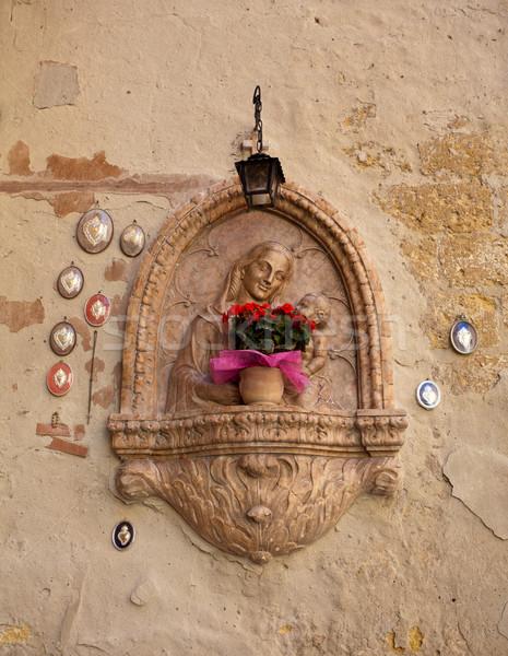Santuario Gesù ciglio della strada verona Italia sole Foto d'archivio © backyardproductions