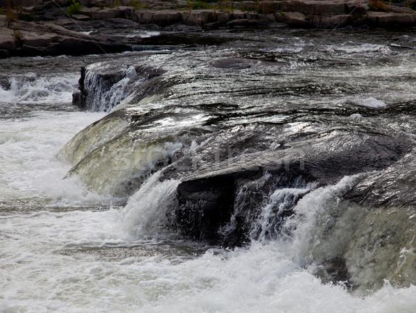 Waterval Pennsylvania rivier vroeg vallen natuur Stockfoto © backyardproductions