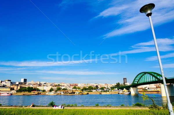 Vue Belgrade autre côté bâtiment été Photo stock © badmanproduction