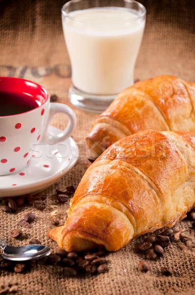 Fresh croissant Stock photo © badmanproduction