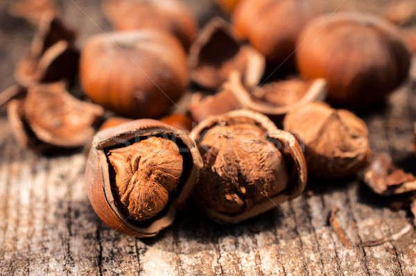 Hazelnuts Stock photo © badmanproduction