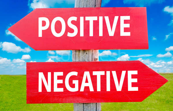 Positive or negative Stock photo © badmanproduction