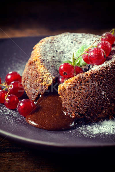 Sweet lava cake Stock photo © badmanproduction