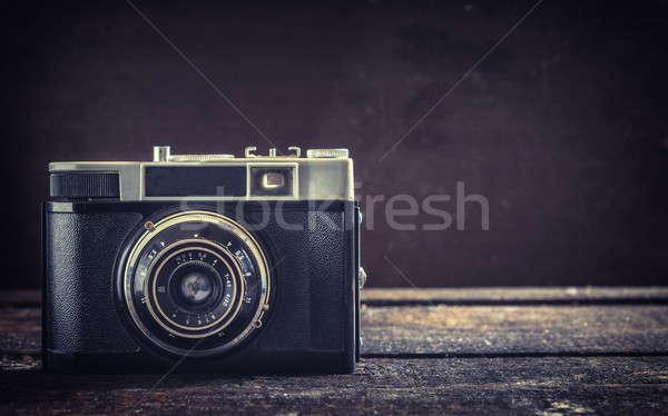 Old camera Stock photo © badmanproduction