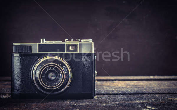 Stock photo: Old camera