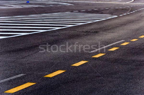 Asfalto fotografia strada strada sfondo nero Foto d'archivio © badmanproduction