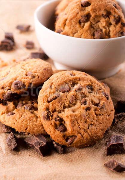 Sweet temps maison cookies chocolat Photo stock © badmanproduction