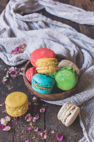 甘い 自家製 クッキー 木製 フォーカス 空白 ストックフォト © badmanproduction