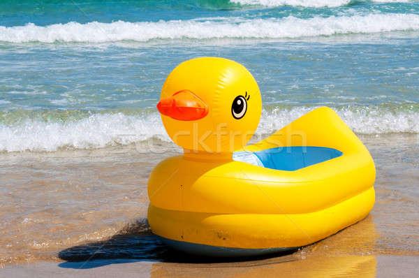 Yellow duck boat Stock photo © badmanproduction