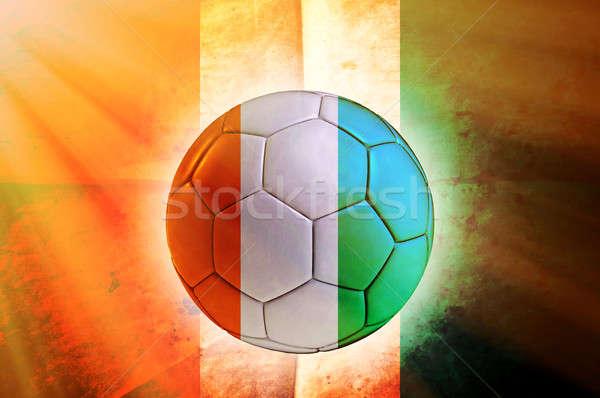 Elefántcsontpart labda futballabda zászló futball sport Stock fotó © badmanproduction