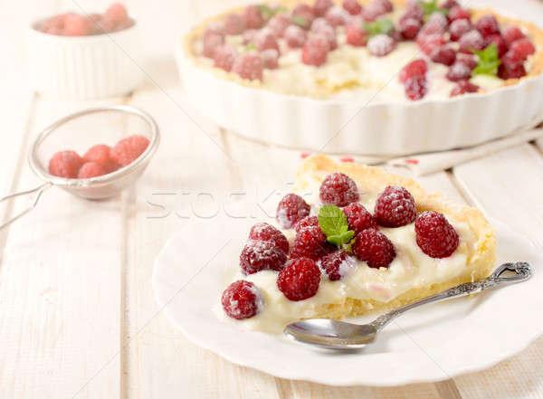 Frutas tarta torta dulce vainilla enfoque Foto stock © badmanproduction