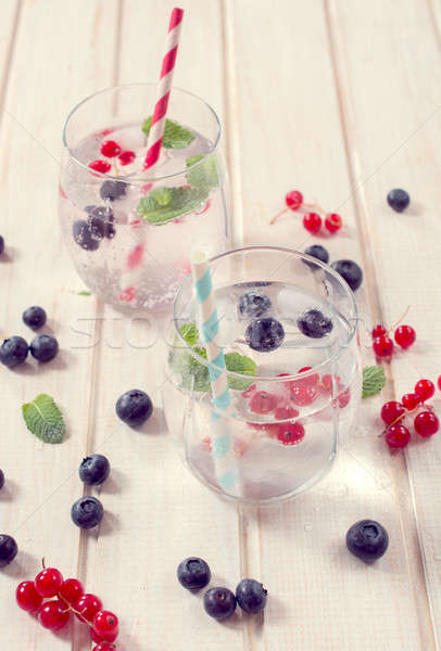 Fruit and soda water Stock photo © badmanproduction