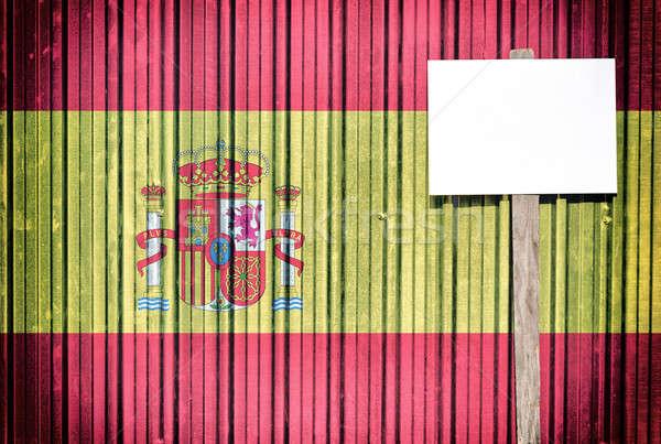 Spain flag Stock photo © badmanproduction