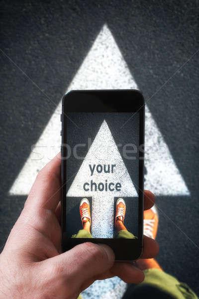 Photographig your chocice Stock photo © badmanproduction