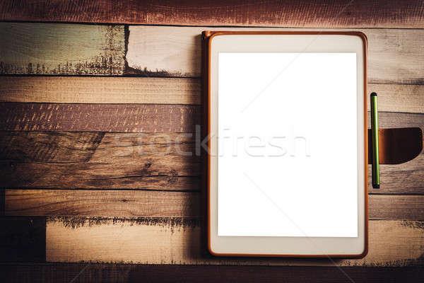 Comprimido tela negócio computador trabalhar projeto Foto stock © badmanproduction