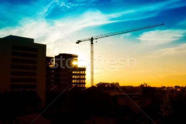 Construction site Stock photo © badmanproduction