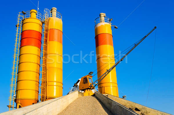 Crane and gravel Stock photo © badmanproduction