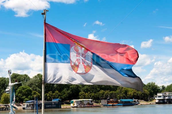 Serbian flag Stock photo © badmanproduction