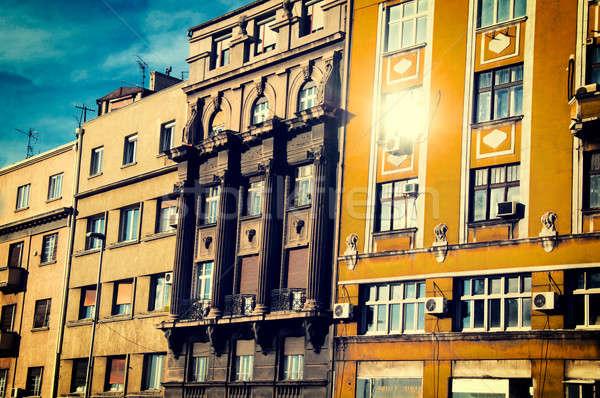 Old Belgrade buildings Stock photo © badmanproduction