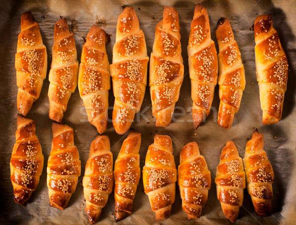 Stock photo: Fresh croissants
