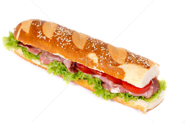 Stock photo: Submarine sandwich isolated