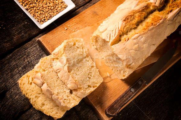 Fresh baked bread Stock photo © badmanproduction