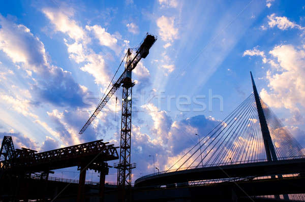 Bridge construction Stock photo © badmanproduction