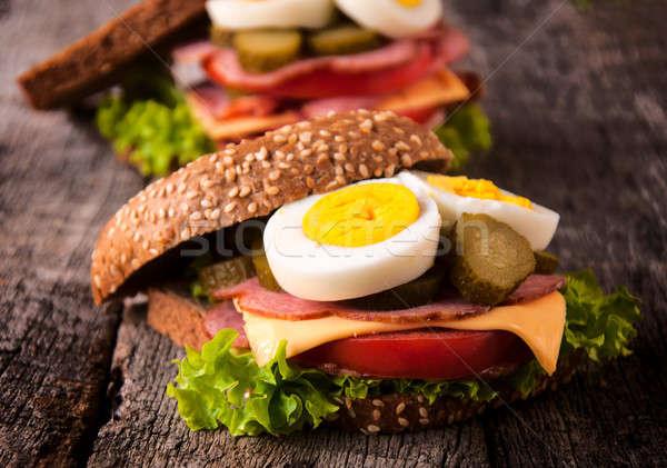 Stok fotoğraf: Sandviçler · seçici · odak · tost · sandviç · gıda