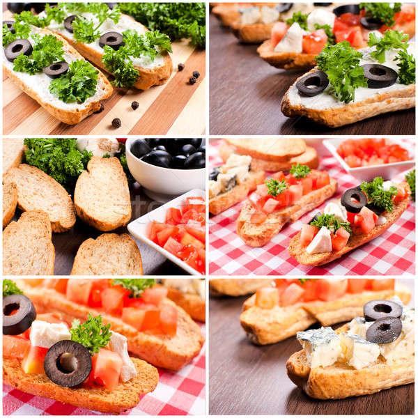 Vegetarian bruschetta Stock photo © badmanproduction