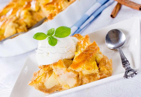 Ice cream pie Stock photo © badmanproduction