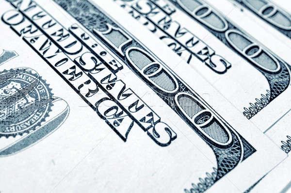 Cem dólar dólares foco números Foto stock © badmanproduction